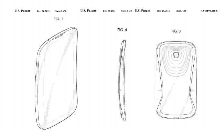 Патент на изогнутый смартфон