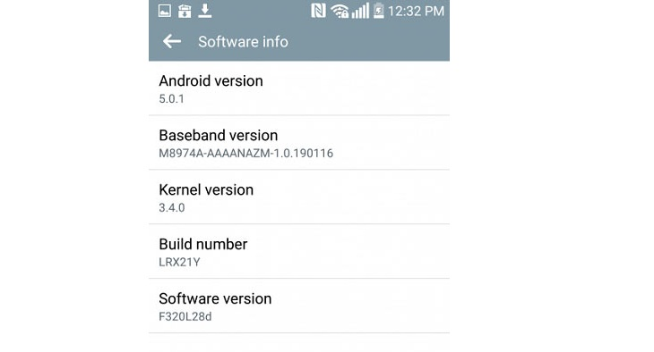 LG G2 обновление Android 5